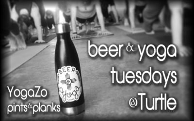 Pints & Planks Beer Yoga at Turtle